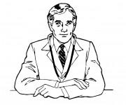 Coloriage Docteur sur son bureau