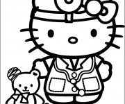 Coloriage Hello Kitty docteur