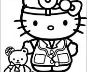 Coloriage dessin  Hello Kitty docteur