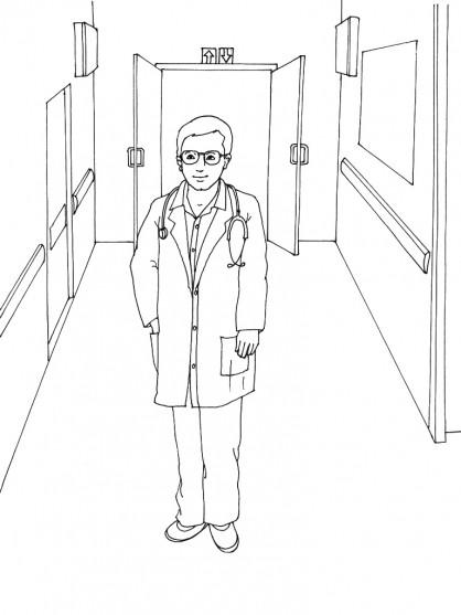 Coloriage et dessins gratuits Hôpital en ligne à imprimer