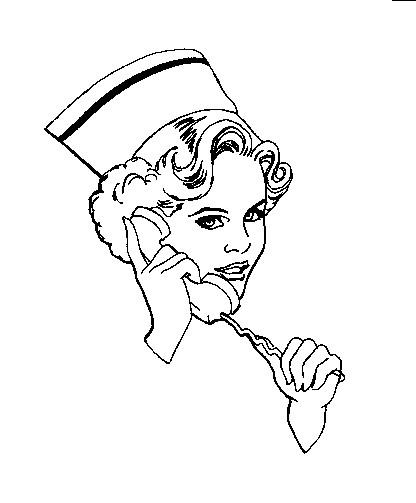 Coloriage et dessins gratuits Infirmière à imprimer
