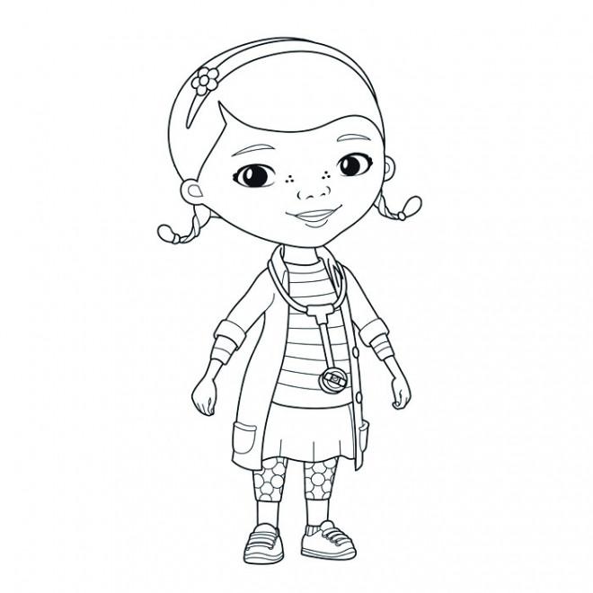 Coloriage et dessins gratuits La Peluche docteur dessin à imprimer
