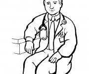 Coloriage dessin  Médecin