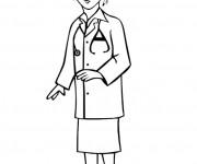 Coloriage Médecin femme