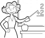 Coloriage dessin  Enseignant 2