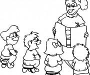 Coloriage dessin  Enseignant 7