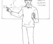Coloriage dessin  Enseignant 9