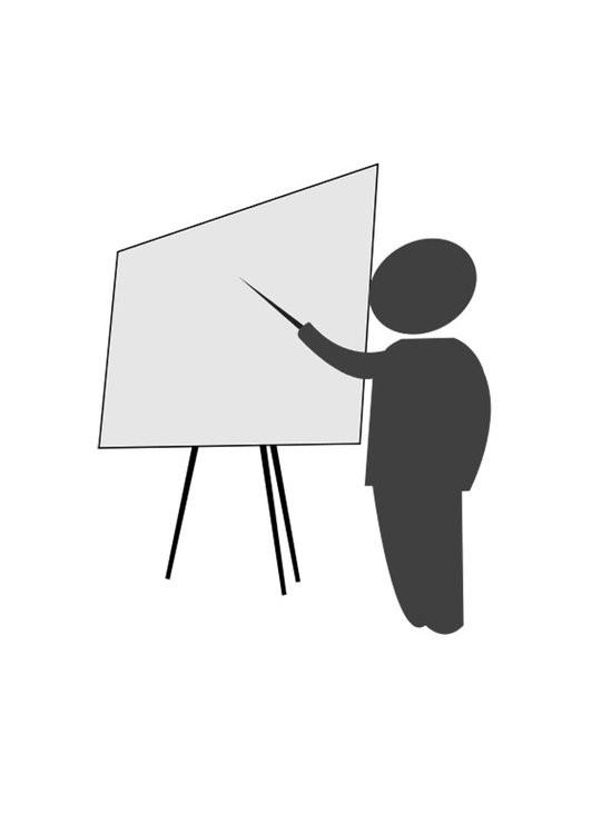 Coloriage et dessins gratuits Enseignant et tableau à imprimer