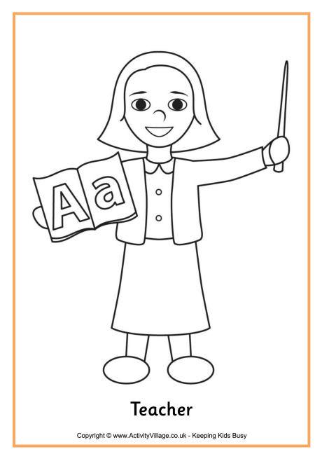 Coloriage et dessins gratuits Enseignante facile à imprimer