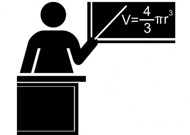 Coloriage et dessins gratuits Enseignante pendant la leçon de mathématiques à imprimer