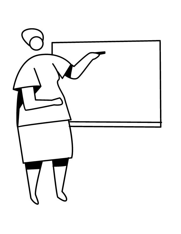 Coloriage et dessins gratuits Maîtresse d'école facile à imprimer