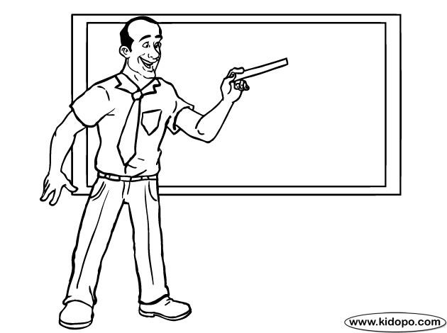Coloriage et dessins gratuits Un professeur avec une règle à imprimer