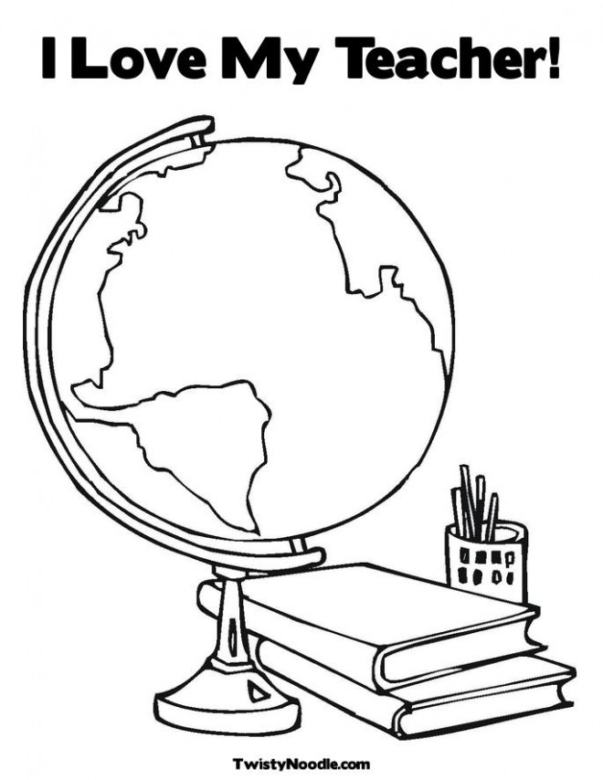 Coloriage et dessins gratuits Une carte du monde et des livres à imprimer