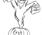 Coloriage Citrouille Halloween dessin