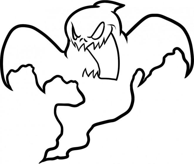 Coloriage Dessin De Fantome Qui Fait Peur Dessin Gratuit A Imprimer