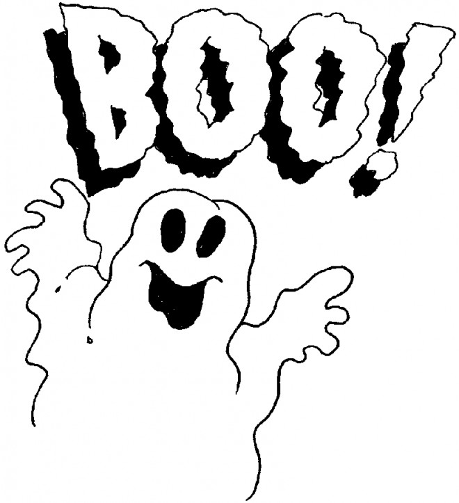 coloring pages on ghosts reading - photo#37