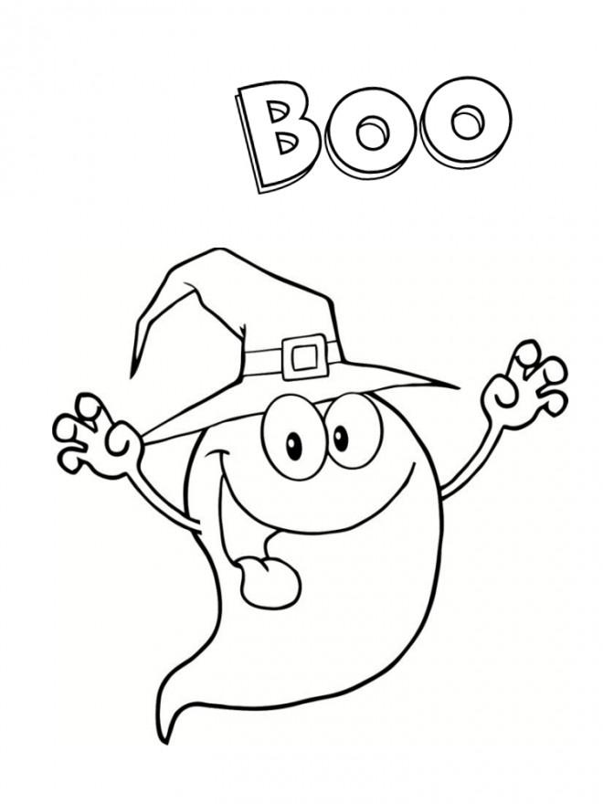 Coloriage et dessins gratuits Fantome Boo à imprimer