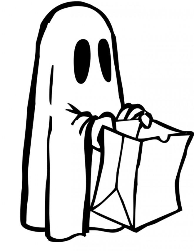 Coloriage et dessins gratuits Fantome coloriage à imprimer