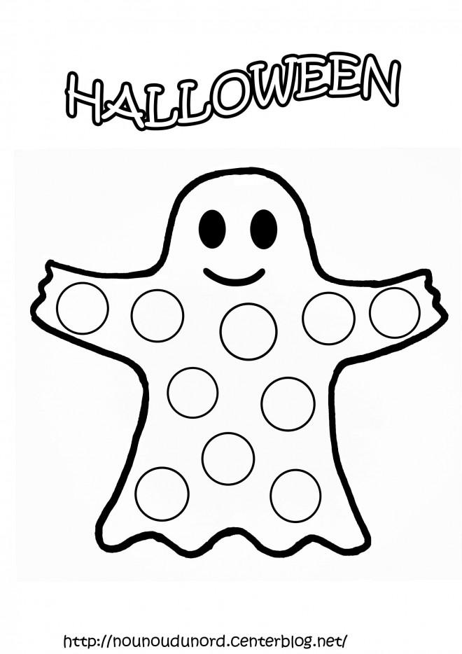 Coloriage et dessins gratuits Fantome couleur enfant à imprimer