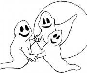 Coloriage Fantome dansent