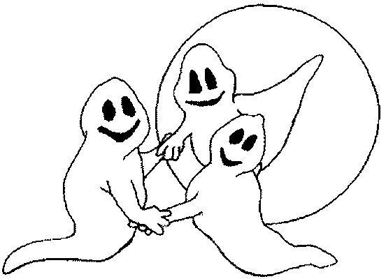 Coloriage et dessins gratuits Fantome dansent à imprimer
