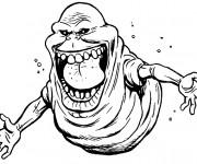 Coloriage Fantome dessin qui fait peur