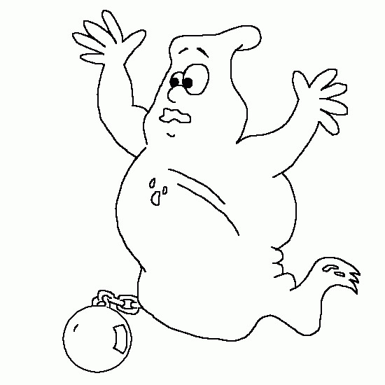 Coloriage et dessins gratuits Fantome emprisonné à imprimer