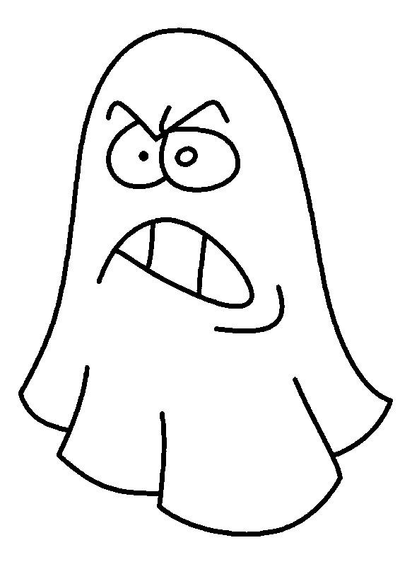 Coloriage et dessins gratuits Fantome en colère à imprimer