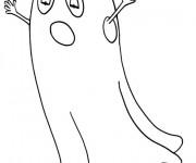 Coloriage et dessins gratuit Fantome en couleur à imprimer