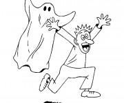 Coloriage et dessins gratuit Fantome et homme à imprimer