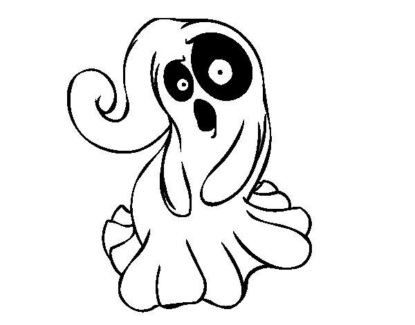 Coloriage et dessins gratuits Fantome étonné à imprimer