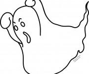Coloriage Fantome faisant peur
