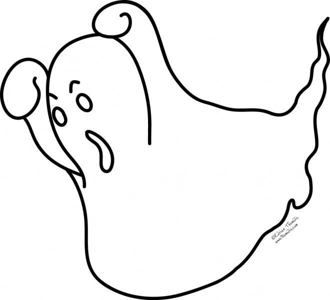 Coloriage et dessins gratuits Fantome faisant peur à imprimer