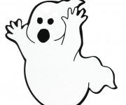 Coloriage Fantome fait peur