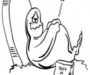Coloriage Fantome humoristique