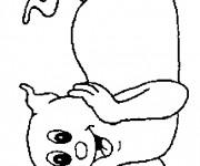 Coloriage et dessins gratuit Fantome mignon à imprimer