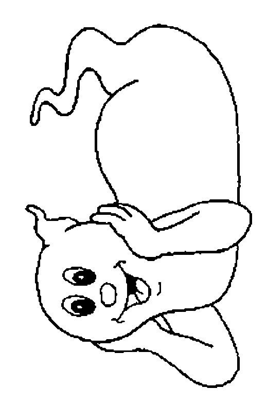 Coloriage et dessins gratuits Fantome mignon à imprimer