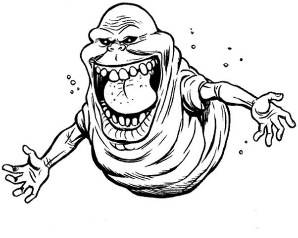 Coloriage et dessins gratuits Fantome monstre à imprimer