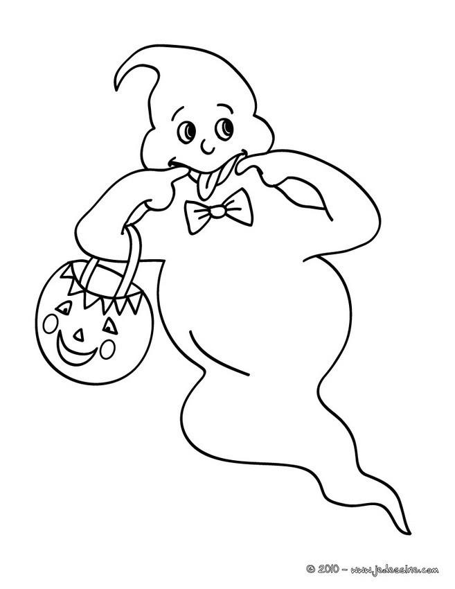 Coloriage et dessins gratuits Fantome moquant à imprimer