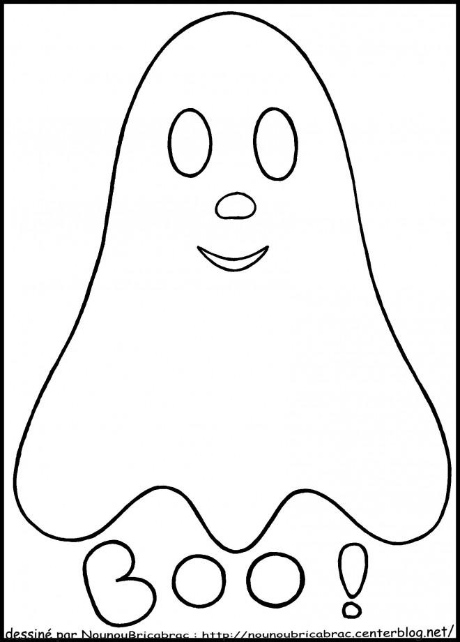 Coloriage et dessins gratuits Fantome pour enfant à imprimer