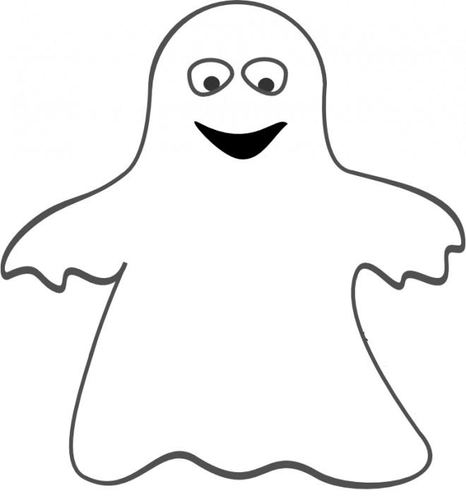 Coloriage et dessins gratuits Fantome pour enfants à imprimer