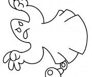 Coloriage et dessins gratuit Fantome qui fait peur à imprimer
