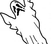 Coloriage Fantome Qui Fait Peur Facile Dessin Gratuit A Imprimer