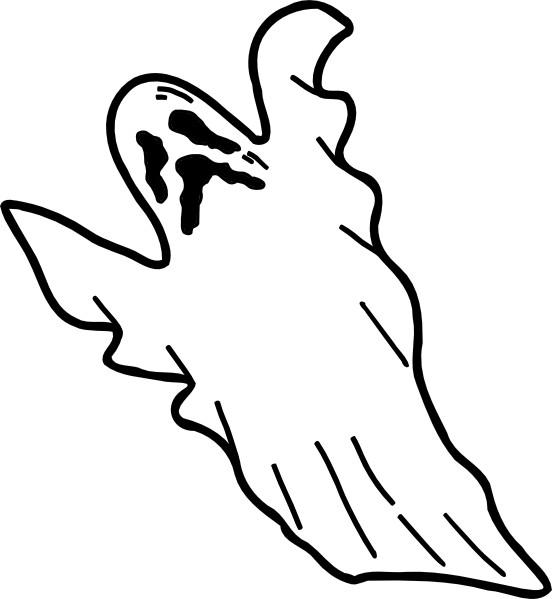 Coloriage et dessins gratuits Fantome  qui fait peur facile à imprimer
