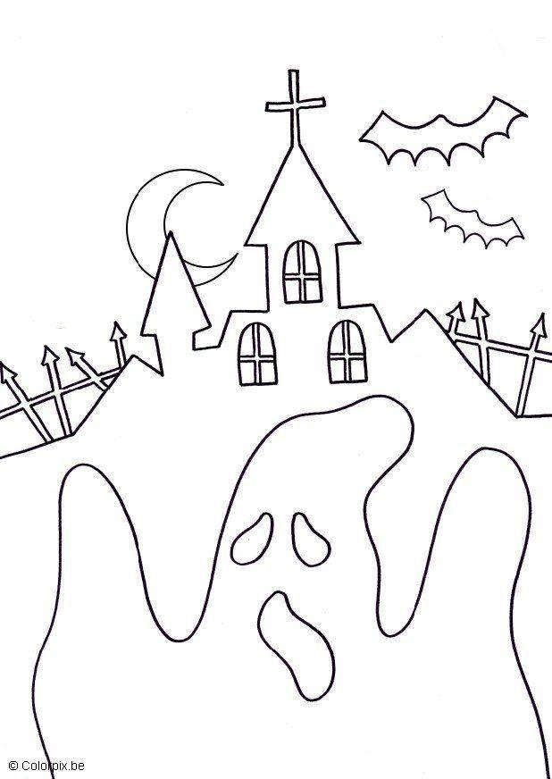 Coloriage et dessins gratuits Fantome réaliste à imprimer
