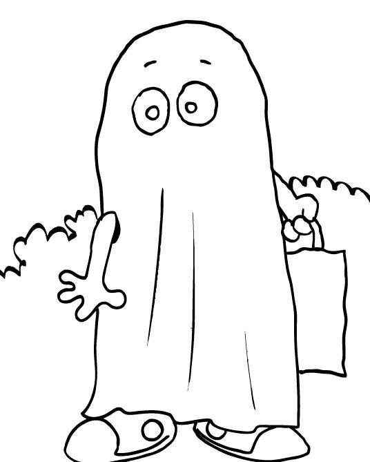 Coloriage et dessins gratuits Fantome se promène à imprimer