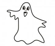 Coloriage et dessins gratuit Fantome simple couleur à imprimer