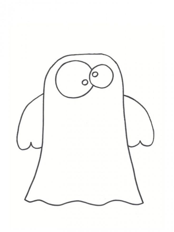 Coloriage et dessins gratuits Fantome simple dessin à imprimer