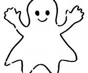 Coloriage et dessins gratuit Fantome souriant à imprimer