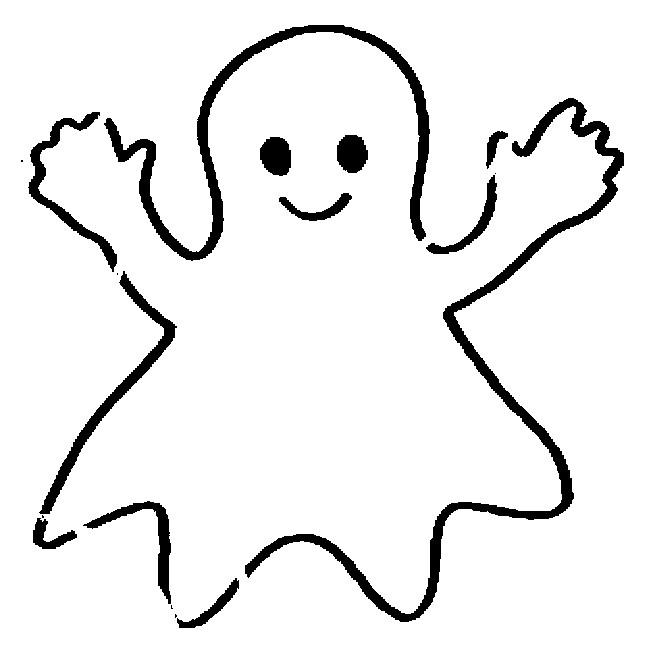 Coloriage et dessins gratuits Fantome souriant à imprimer